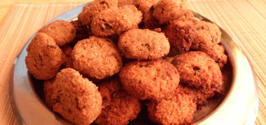 Csokis-diós-mandulás paleokeksz