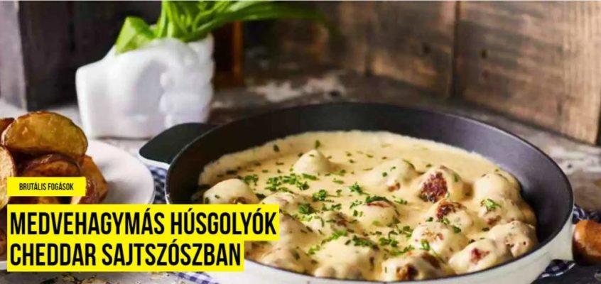 Cheddar sajtszószos húsgolyó