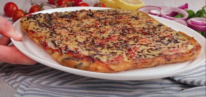 Egyfajta különleges pizza, vagy omlett, vagy pizzaomlett :)